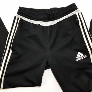 Boys Climacool Black & White Adidas Track Pants